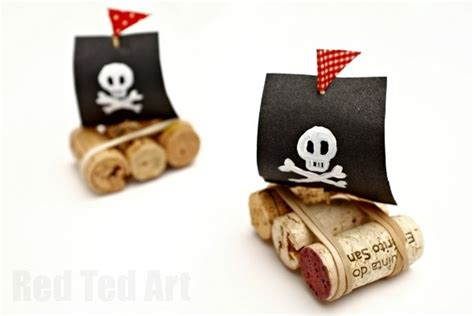 Wine Cork Boat Craft by Easy Pirate Cork Boats Ted S