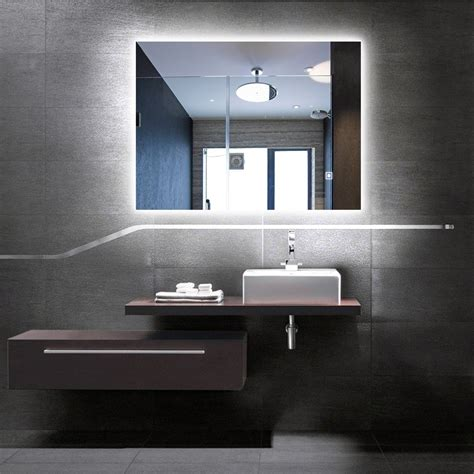 Back Lit Bathroom Mirrors by Dimmable Led Backlit Mirror Illuminated Bathroom