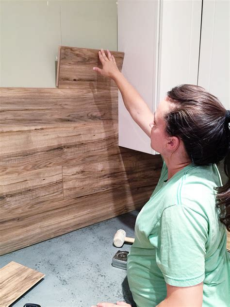 how to install wall tile in kitchen laminate flooring backsplash it looks like wood bower 9463