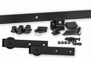402 flat track hardware kit barndoorhardwarecom With barn door hinge kit