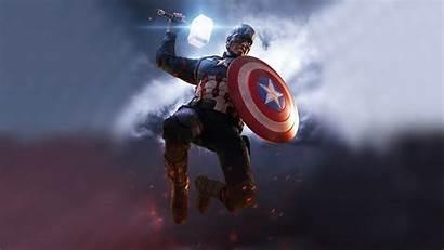 Captain America 4k Mjolnir Shield Hammer Endgame