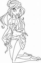 Coloring Winx Swimsuit Bloom Club Deviantart Pages Bikini Icantunloveyou Print Mermaid Template Swimming Spongebob Coloriage Sketch Deviant Vector sketch template