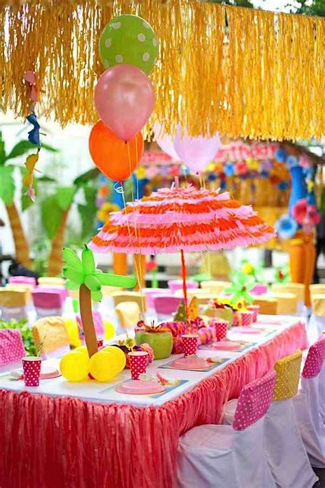 Kara's Party Ideas Aloha Luau Surf Colorful Hawaiian Beach
