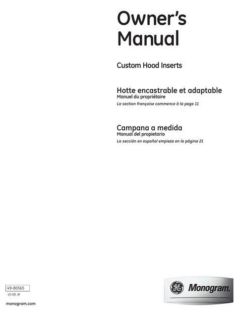 ge monogram   owners manual   manualslib
