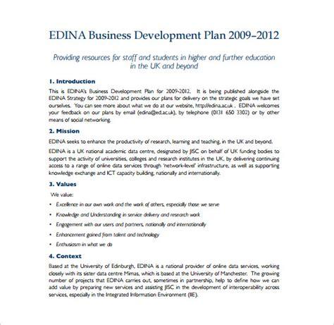 business development proposal templates 14 development plan templates free sle exle