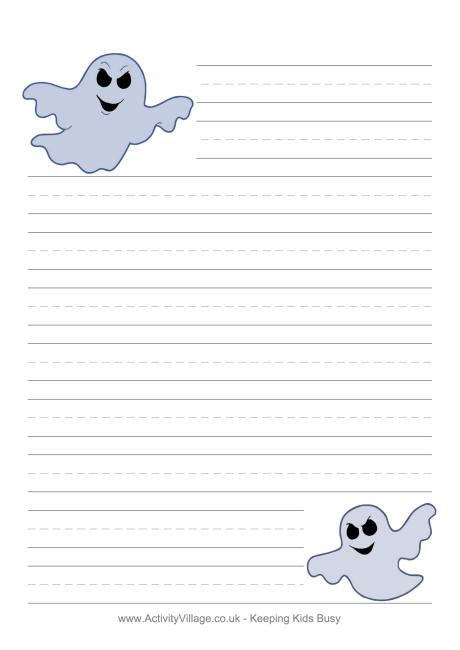 halloween writing paper ghosts