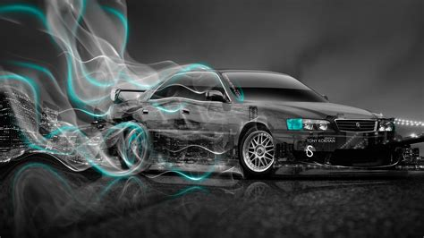 Toyota Vios 4k Wallpapers by Toyota Chaser Jzx100 Jdm City Drift Smoke Car 2014