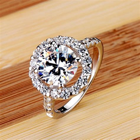 big heart shape 3 ct nscd synthetic stone wedding rings sterling sliver jewelry engagement ring