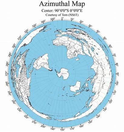 Earth Flat Antarctica Map Maps Pole North