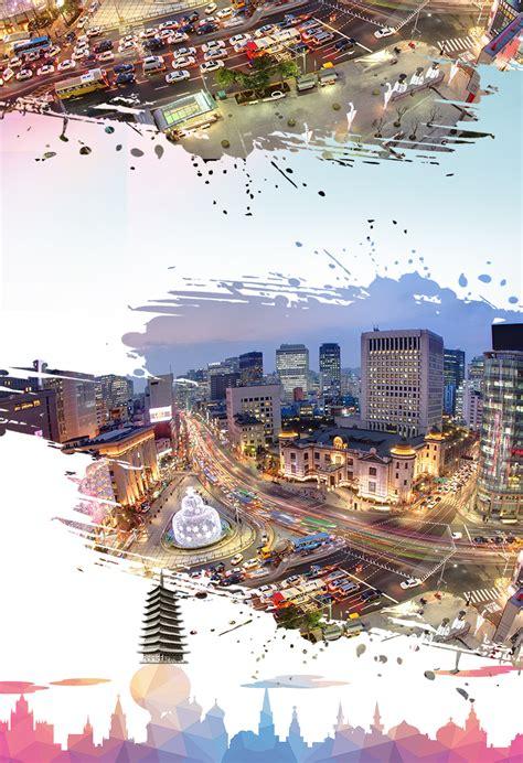 korea tourism poster korea seoul tourism background