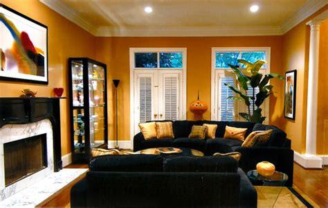 living room black  gold tones