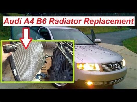 automobile air conditioning repair 2003 audi a6 on board diagnostic system audi a4 b6 radiator removal and replacement 2002 2006 youtube