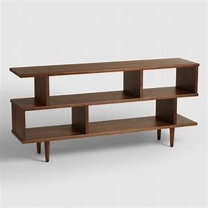 Walnut Brown Wood Ashlyn Bookshelf World Market