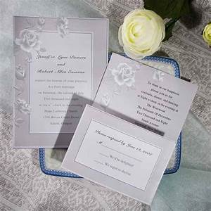 elegant grey rose floral inexpensive online wedding With wedding invitations cheap but elegant