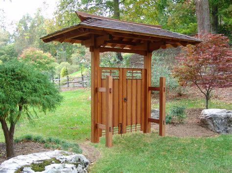 japanese garden backyard landscape design and custom gate