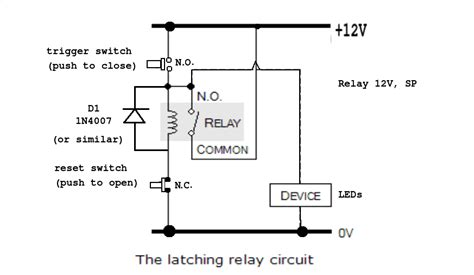 ac how to make a latching unlatching relay circuit with