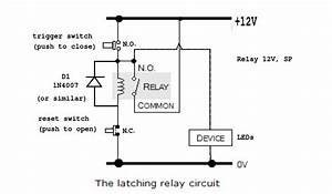Ac - How To Make A Latching  Unlatching Relay Circuit With 240v Converter
