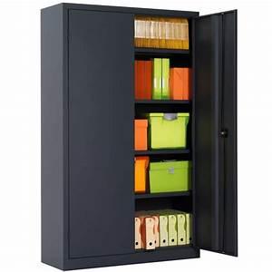 Armoire De Bureau Métallique : armoire de bureau portes battantes h198 l120 armoire plus ~ Melissatoandfro.com Idées de Décoration