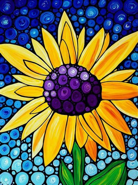 cuadros faciles de flores pintados al oleo dibujo  pintura en  arte arte pintura