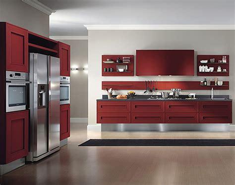 cocina moderna en tonos rojos imagenes  fotos