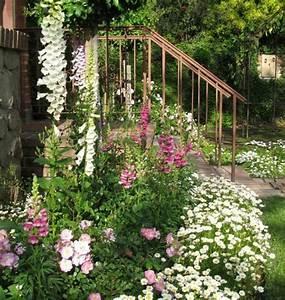 1001 conseils et modeles pour creer une parterre de fleurs With amenagement petit jardin exterieur 9 la deco exterieure avec une fontaine murale archzine fr