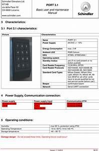 Schindler Elevators Port312ver1 Access Control User Manual