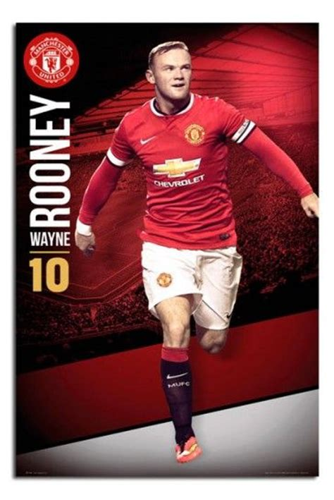 manchester united wayne rooney poster manchester united