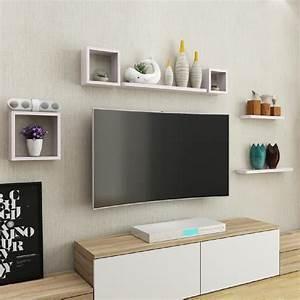 Etagere Murale Tv : deco etagere murale salon id es de d coration int rieure french decor ~ Teatrodelosmanantiales.com Idées de Décoration