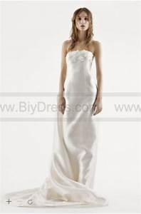 white by vera wang strapless mikado wedding dress vw351261 With vera wang strapless wedding dress
