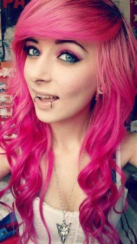 Pink Dyed Scene Hair Pretty Cute Hair Dos