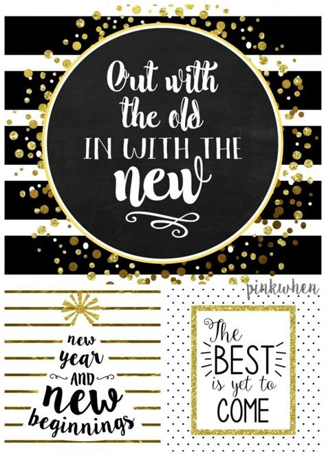 chic   year printables party decor ideas