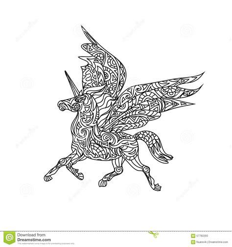 unicorn coloring page stock illustration image  unicorn
