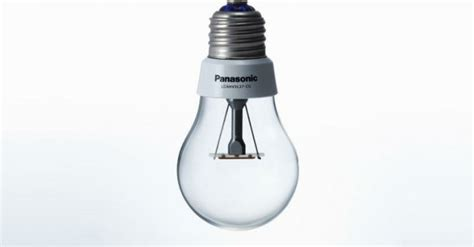 panasonic designs energy efficient led bulb that looks