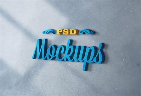 3d Logo Text Mockup Smart Object Psd Free 3d Logo Mockups Designbeep