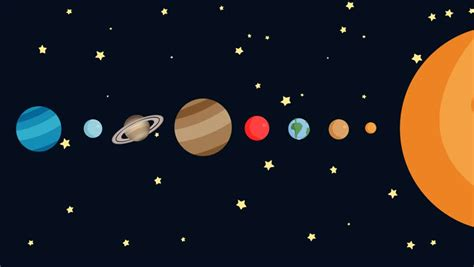 Cartoon Animation Of The Planets Of The Solar System By