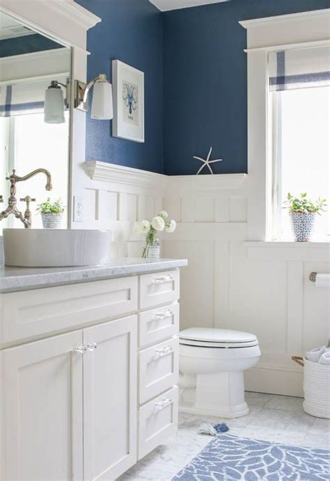 Blue Gray Bathroom Ideas by Navy Blue And White Bathroom Home Bathroom Navy