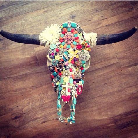 cow skull i decorated decor