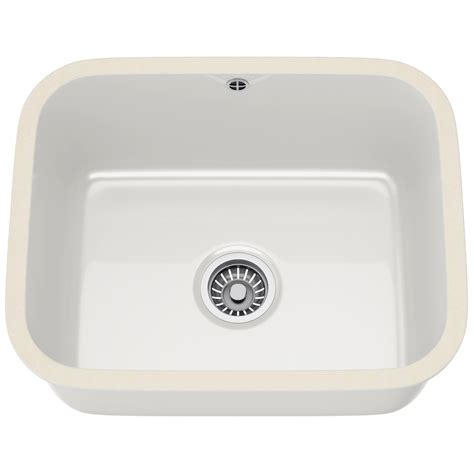 ceramic undermount kitchen sinks franke v and b vbk 110 50 ceramic 1 0 bowl white 5208