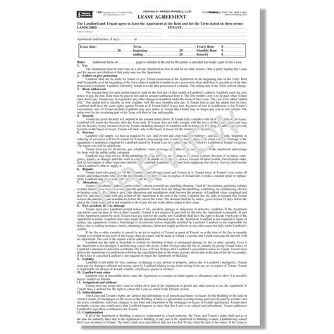 ny residential lease agreement blumberg lease new york residential lease forms