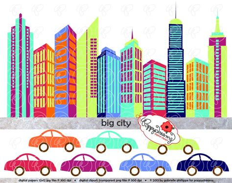clipart buildings clip building skyscraper downtown digital metropolitan skyscrapers tall cliparts cars colorful tallest area skyline popular poppydreamz library clipground