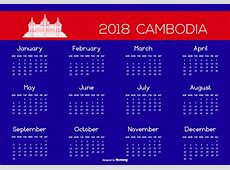2018 Cambodia Calendar Illustration Download Free Vector