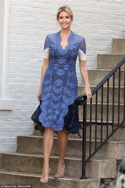 ivanka trump stuns   elegant blue lace dress kebaya