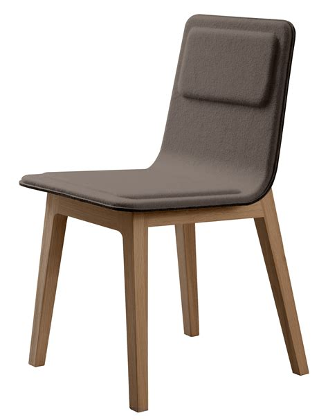 chaise bureau scandinave laia padded chair felt mole oak by alki