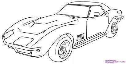 Corvette Draw Drawing Drawings Step Stingray Cars