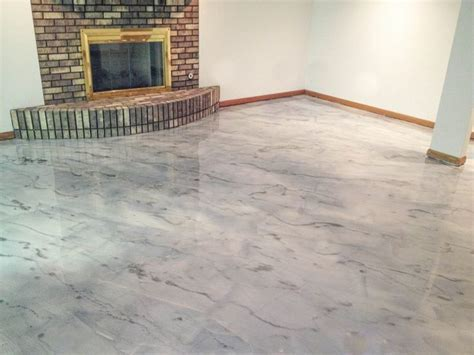 Gray Concrete Staining   Rockford Il   Illinois Decorative