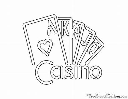 Neon Stencil Sign Casino