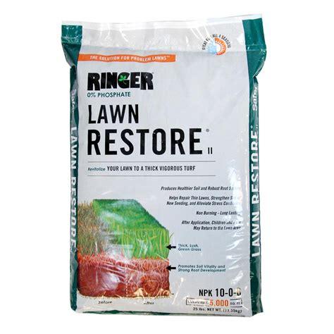 lawn fertilizer brands safer brand 25 lb ringer lawn restore ii fertilizer 9333 3684