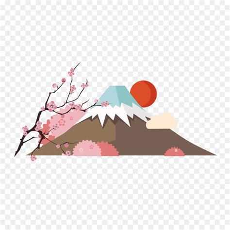 mount fuji tokyo poster japanese mountain  png