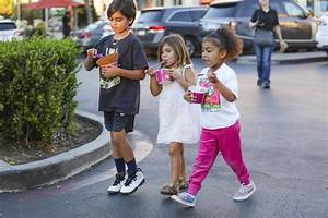 North West & Penelope Disick Grab Ice Cream With Scott