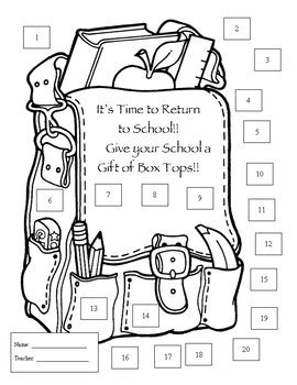 box tops for education collection sheets by carbonneau creative tpt